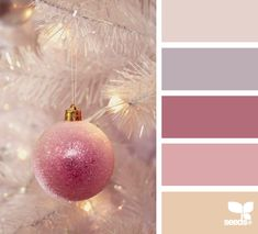 ornamental pinks by Design Seeds Colour Pallette, Color Palate, Color Combos, Pink Palette, Design Seeds, Christmas Colors, Christmas Palette, Christmas Colour Schemes, White Christmas