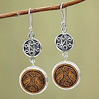 Buy Mate gourd dangle earrings, 'Love and Peace' today. Shop unique, award-winning Artisan treasures by NOVICA, the Impact Marketplace. Sterling Silver Heart Necklace, Silver Pendant Necklace, Rose Earrings, Dangle Earrings, Chunky Jewelry, Antique Earrings, Necklace Sizes, Old Art, Jewelry Packaging
