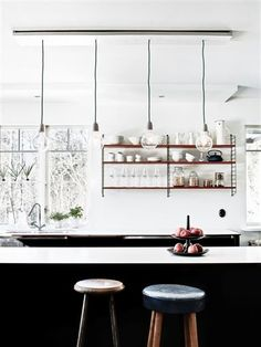 3 Accomplished Cool Tips: Minimalist Interior Home Beds modern minimalist living room fire.Minimalist Decor Small Spaces Home Office boho minimalist decor interior design.Colorful Minimalist Home Bath. Modern Kitchen Design, Interior Design Kitchen, Kitchen Decor, Kitchen Stools, Kitchen Designs, Wooden Kitchen, Kitchen Styling, Rustic Kitchen, Kitchen Ideas