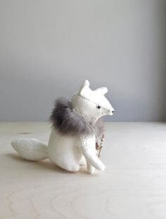 fierce fox / soft sculpture animal by ohalbatross