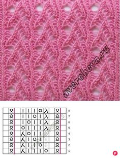 AS Muster - strickmuster 15 Photos - New Ideas Lace Knitting Stitches, Lace Knitting Patterns, Knitting Charts, Loom Knitting, Stitch Patterns, How To Purl Knit, Knit Purl, Knit Crochet, Wintry Weather