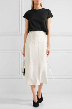 Proenza Schouler - Tie-back Cotton-jersey T-shirt - Black - medium