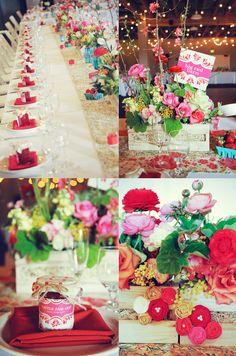 Tischdekoration, Hochzeit, Blumen