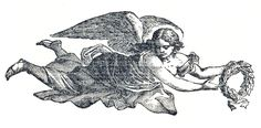 Some beautiful Angels for your art! The one at the top is a printers ornament from an antique (1890's) book, of a pretty flying Angel holding a wreath. (The second one is the original version, I also made a green version for you as well.) The next 2 are engravings from an early (1808) book....Read More »