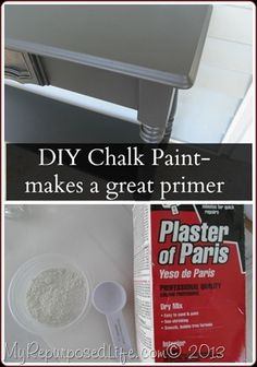 DIY chalky paint is just not for chalk paint projects, use as a primer on all of your furniture projects. Black primer under black paint, RED primer under red paint.... so clever