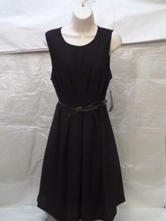 SHARAGANO stretch black sleeveless women's DRESS SIZE 10