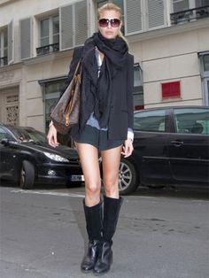 モデルのブラック・ジャケット・スタイル