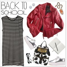 Back to School: Fall Jackets by teoecar on Polyvore featuring moda, R13, Balenciaga, Moschino, SHOUROUK, Kobelli, Retrò, BackToSchool and falljackets