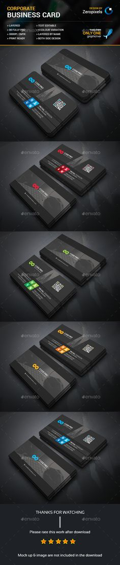 Corporate Business Card Template PSD. Download here: http://graphicriver.net/item/corporate-business-card/16537574?ref=ksioks