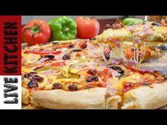 Κάντε εξαιρετική Πίτσα στο σπίτι -Αmazing Pizza - Tips - Live Kitchen - YouTube Greek Recipes, Kitchen Living, Pie Dish, Vegetable Pizza, Food And Drink, Dishes, Vegetables, Youtube, Cook
