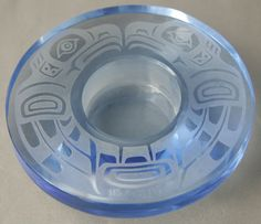 Handmade Crystal Candle Holder Wade Baker Kwakuitl First Nations Eagle SOLD