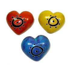Fair trade soapstone hearts from Fair Planet! www.fairplanet.ca