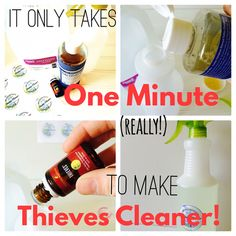 Eco-Friendly, kid-safe. pet-safe Thieves cleaner recipe and FREE Printable Labels are up on the blog! This cleaner takes approximately ONE minute to make, and it smells so good.