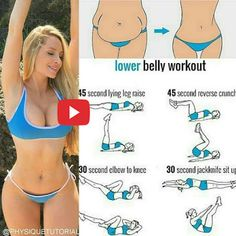 Ideas Fitness Workouts Abs Lower Belly Work Outs Fitness Workouts, Fitness Routines, Sport Fitness, Body Fitness, At Home Workouts, Fitness Motivation, Training Motivation, Fitness Plan, Fitness Goals