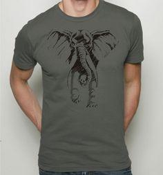 Elephant tshirt - Mens American Apparel tee