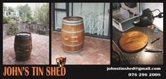 Customised French wine barrel for a Frenchman from Bordeaux. I hope you have many happy hours making memories around your barrel! Tin Shed, How To Remove Rust, French Wine, Plasma Cutting, Making Memories, Bordeaux, Repurposed, Barrel, Restoration