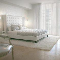 Elegant All White Bedrooms