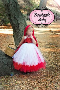 Little Red Riding Hood Themed Halloween Tutu.  by BowtasticBaby2, $45.00