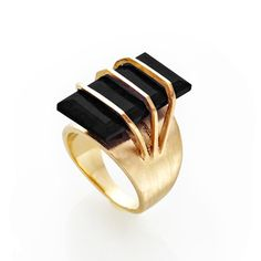 Fab.com | Guardian Ring Onyx - challenging contemporary jewellery design
