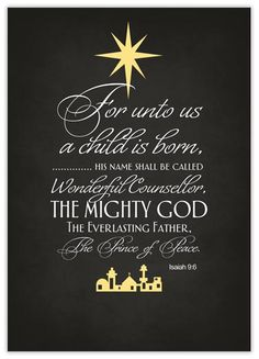 Christian Christmas Cards - Share the True Meaning of Christmas! Isaiah 9 6, Psalm 9, Meaning Of Christmas, Christmas Star, Christmas Cover, Christmas Night, Christmas Music, A Child Is Born, Bible Truth