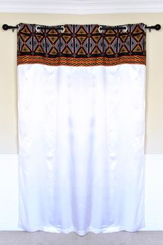 Your house don't have to be so conventional. Our awesome African Print window curtains transform a neglected essential into an awesome statement piece. Description:Dimensions available (Size per W x L / 115 cm x 215 Van Curtains, Printed Curtains, White Curtains, Fabric Shower Curtains, Window Curtains, African Interior, African Home Decor, Curtain Patterns, Curtain Designs