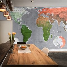 Not just for the study, a modern map enhances any room. Be bold!