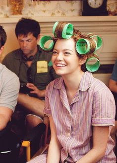 Emma Stone on the set of The Help (2011).