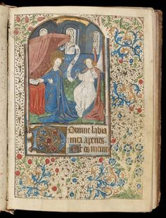 Illuminated page from a Book of Hours  (Use of Lisieux, for female patron). French (mid-15th century). Tempera and ink.  Image and text courtesy MFA Boston.