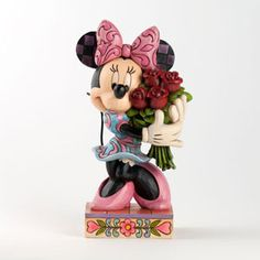 Minnie Mouse with Roses -Disney Traditions Figurine