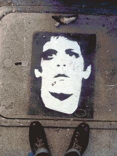 Lou Reed Transformer Stencil Art Animated Gif