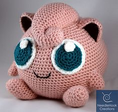 Jigglypuff Pokemon Amigurumi - crochet - Jigglypuff Pokemon Amigurumi Ravelry: Jigglypuff Pokemon Amigurumi pattern by NeedleHook Creations Pokemon Crochet Pattern, Crochet Geek, Cute Crochet, Amigurumi Patterns, Amigurumi Doll, Crochet Crafts, Crochet Dolls, Yarn Crafts, Crochet Projects
