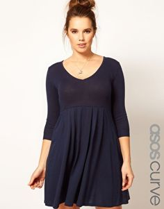 Enlarge ASOS CURVE Knitted Dress With Zip Back
