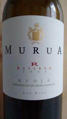 Murua reserva 2004 - DO Ca Rioja - Bodegas Murua (El Ciego) - Vino tinto reserva, envejecido durante 18 meses en barrica de roble francés y 36 meses en botella - 90% Tempranillo, 8% Graciano y 2% Mazuelo - 14% - 87 PEÑIN