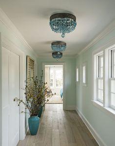 Love the lights and color n floors ~ Novogratz design beach house