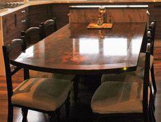 Floating Dining Table by Fheoir Furniture, Ireland. Wood Veneer, Ireland, Dining Table, Interior Design, Furniture, Home Decor, Nest Design, Decoration Home, Home Interior Design