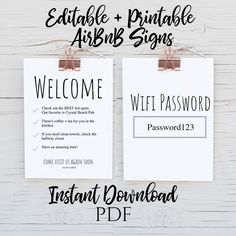 Outstanding baby arrival information are offered on our web pages. Have a look and you wont be sorry you did. Printable Planner, Planner Pages, Printables, Air Bnb Tips, Airbnb House, Welcome Letters, Wifi Password, Cute Signs, Air B And B