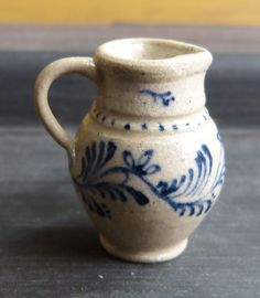 IGMA Artisan Jane Graber Mini Stoneware Vine Pattern Water Pitcher 1 12 Scale | eBay