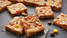 Delight little ghost and goblins with this easy peanut butter cookie bar.