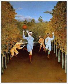 「フットボールをする人々」 1908年 原画サイズ(100×81cm) 所蔵:グッゲンハイム美術館