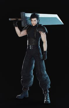 """""""Who's your Class ? We have a character render for basically everyone but him. Figured I could try and make one, or try to anyway. Final Fantasy Artwork, Final Fantasy Characters, Final Fantasy Vii Remake, Fantasy Series, Female Characters, Final Fantasy Crisis Core, Video Game Anime, Video Games, Zack Fair"""