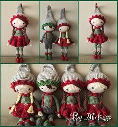 Crochet Christmas elves. (Inspiration).
