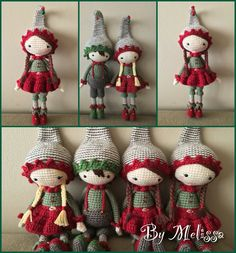 Crochet Christmas elves. (Inspiration).