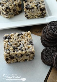 Combine the classic Rice Krispies® cereal with your favorite chocolate and cream cookie for the ultimate afternoon snack or dessert! This recipe for Cookies and Cream Rice Krispies Treats® is so easy, you'll be able to whip up a batch of these tasty treats in no time at all.