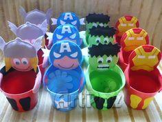ArtPaz by Tania Paz: Lembrancinha Vingadores - Thor, Hulk, Capitão Amér...