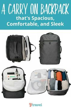 Looking for a carry on backpack that is comfortable, supportive and sleek   The Tortuga 1ad863c219