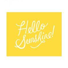 Hello Sunshine Print | Lulu and Georgia