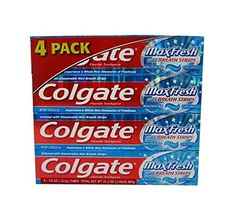 Infused with mini breath strips, #Colgate MaxFresh cleans teeth and freshens your breath.