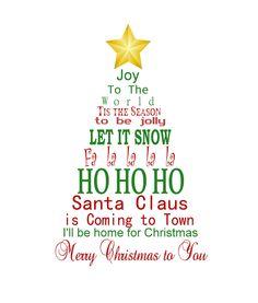 Christmas Subway Art Print