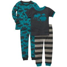 Snug Fit Cotton 4-Piece PJs — If we ever have a boy, his Daddy, Papaw, & Great Papaw would love these!