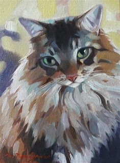 """Daily Paintworks - """"Poof"""" - Original Fine Art for Sale - © Natali Derevyanko"""